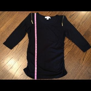Michael Kors Black Long-Sleeved Top.